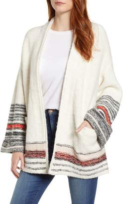 Caslon Stripe Detail Cardigan