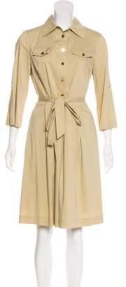 Tory Burch Pleated Midi Dress