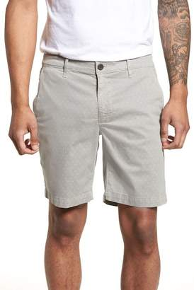 AG Jeans Flora Print Slim Fit Shorts