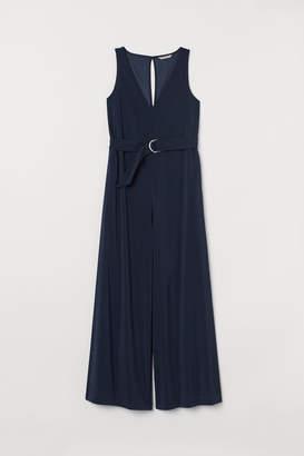 H&M Wide-cut Jumpsuit - Blue