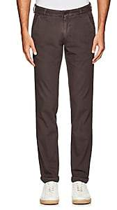 Barneys New York MEN'S COTTON TWILL SLIM CHINOS - DARK GRAY SIZE 36
