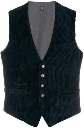 Eleventy deep V-neck waistcoat