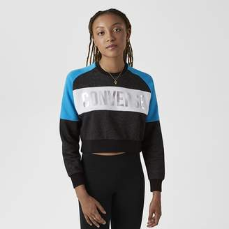 Converse Lurex Women's Cropped Crew