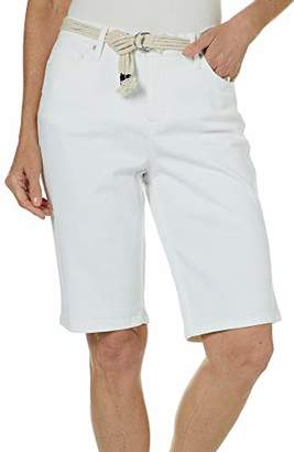 Gloria Vanderbilt Women's Joslyn Single Cuff Bermuda Short