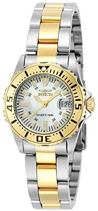 Invicta Women's 6895 Pro-Diver Stainless Steel 18k Yellow Gold-Plated and Bracelet Watch