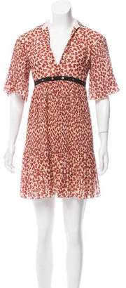 Giamba Printed Mini Dress