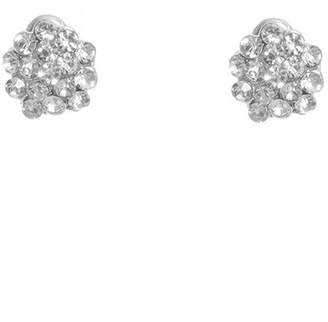 Quiz Silver Diamante Stud Earrings