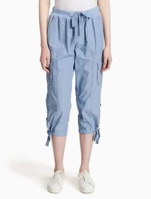 Calvin Klein drawstring cropped cargo pants