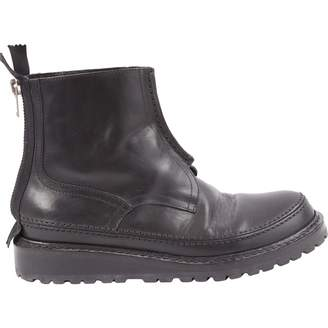 Kris Van Assche Black Leather Boots