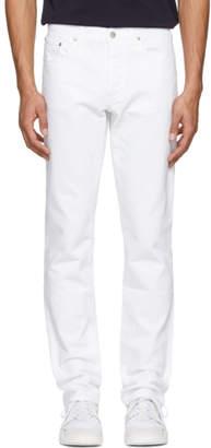 MAISON KITSUNÉ White Overdyed Parisien Jeans