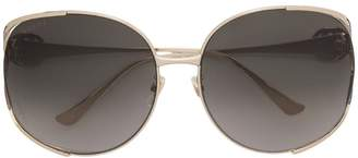 Gucci oversized round frame sunglasses