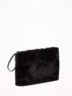 Old Navy Faux-Fur Zip-Top Clutch for Women