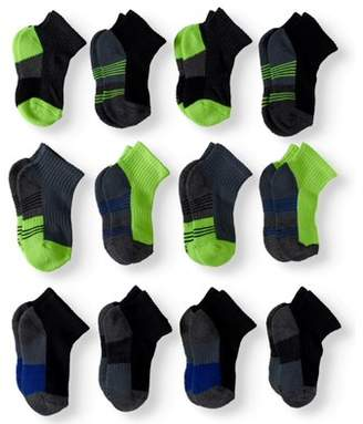 Athletic Works Ankle Socks, 12 Pairs (Little Boys & Big Boys)