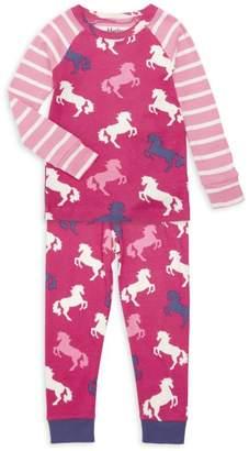 Hatley Little Girl's & Girl's Playful Horses Two-Piece Pajama Set