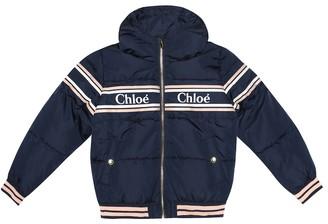 Chloé Kids Logo hooded jacket
