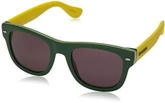 Havaianas Men's Brasil/M Y1 1RI Sunglasses, Green Yellow Grey