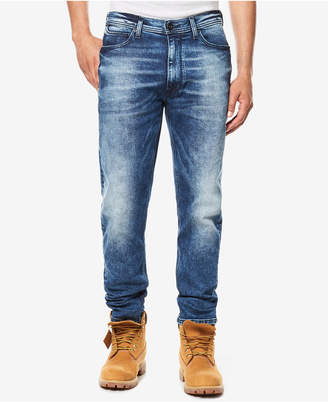 Sean John Men's White Party Athlete Relaxed Tapered-Fit Stretch Jeans