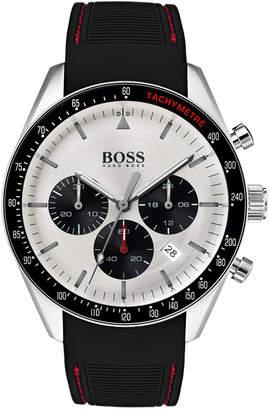HUGO BOSS BOSS Men's Chronograph Trophy Black Rubber Strap Watch 44mm