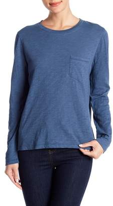 Madewell Long Sleeve Patch Pocket Crew Neck Tee