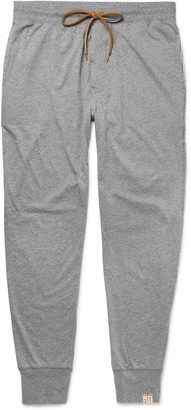 Paul Smith Slim-Fit Tapered Mélange Cotton-Jersey Pyjama Trousers $100 thestylecure.com