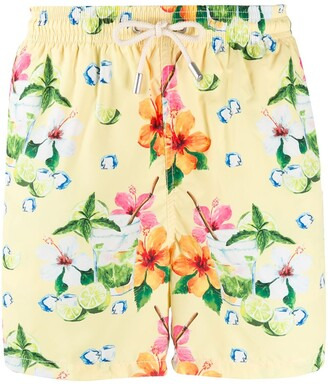Ultralight floral print swim shorts
