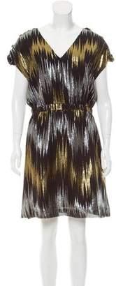 Loeffler Randall Metallic-Accented Mini Dress