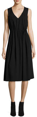 Jason Wu GREY Sleeveless Midi Dress w/ Gathered Pleats