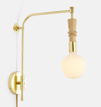 Rejuvenation Nehalem Bare Bulb Swing Arm Pin-up Sconce