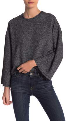 Elan International Frayed Wide Sleeves Top