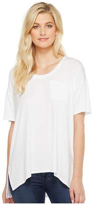 Heather Slouchy Pocket Tee Women's T Shirt