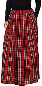 Joan Rivers Classics Collection Joan Rivers Petite Length Holiday PlaidMaxi Skirt