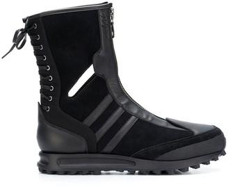 Yohji Yamamoto X ADIDAS zip and lace boots