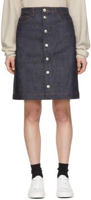 A.P.C. Indigo Denim Therese Miniskirt