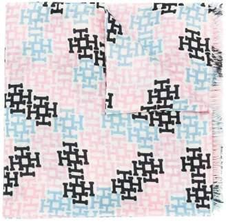 Hemisphere woven monogram scarf