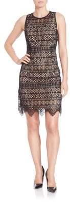 Shoshanna Bella Scalloped Hem Dress