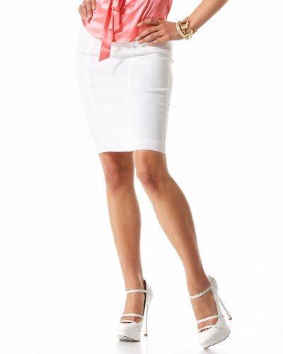 Italian Linen Satin Zip Pencil Skirt