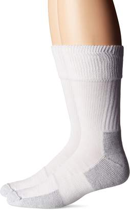 Dr. Scholl's Men's Big and Tall Diabetic and Circulatory Work 2 Pack Crew Sock