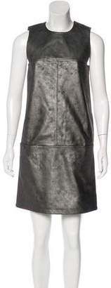 Tomas Maier Leather Mini Dress