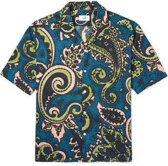 Dunhill Camp Collar Paisley-Print Cotton-Canvas Shirt