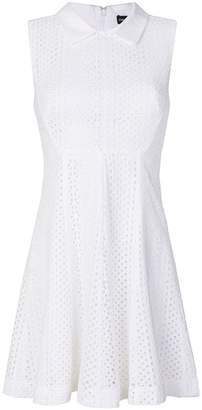 Emporio Armani perforated collared dress
