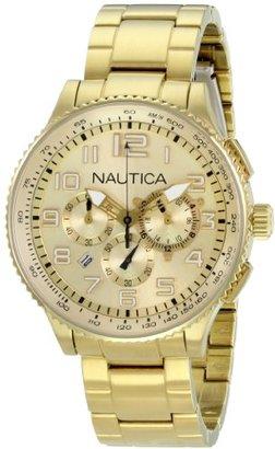 Nautica (ノーティカ) - ノーティカMen 's n26533 m OCN 38 MID Br。クロノグラフ腕時計