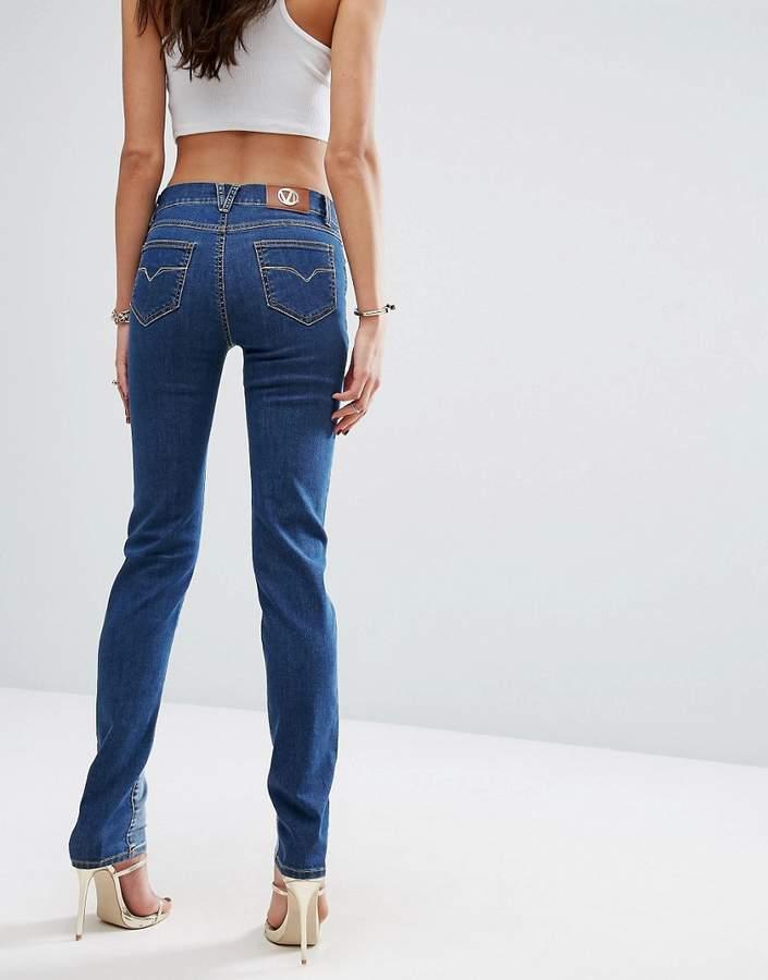 Versace Panel Detail Straight Leg Jean