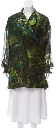 Gianfranco Ferre Printed Silk Top