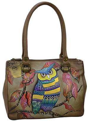 Anuschka Hand Painted Leather Women's Triple Compartment Medium Tote