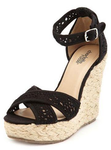 Crochet X-Front Jute Wedge Sandal