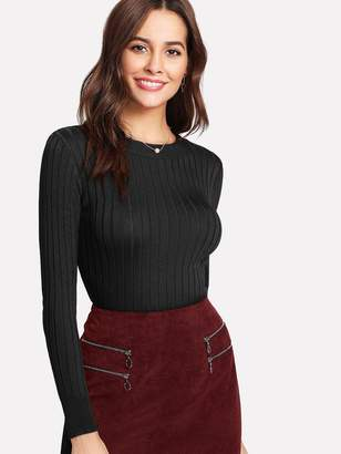 Shein Solid Fitted Jumper