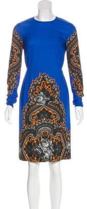 Stella McCartney Printed Long Sleeve Dress