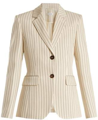 Altuzarra Fenice Single Breasted Pinstriped Blazer - Womens - Cream White