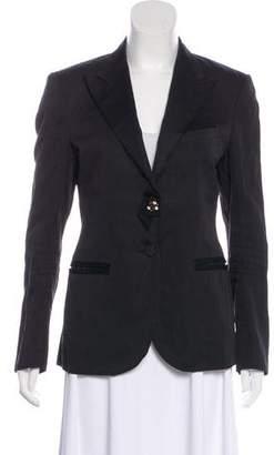 Lanvin Peak-Lapel Long Sleeve Blazer
