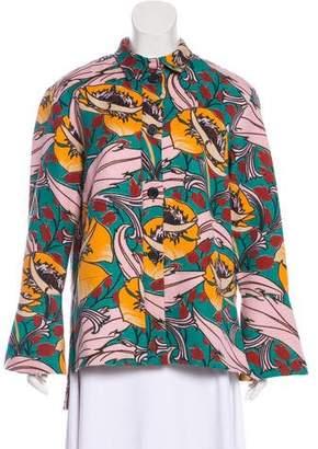 Marni Floral Print Long Sleeve Jacket